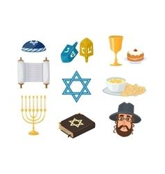 Jewish symbols set vector