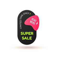 modern simple sale badge template vector image vector image