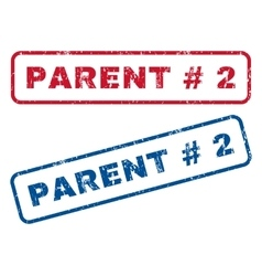 Parent hashtag 2 rubber stamps vector