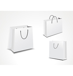Set of three paper shopping bags vector