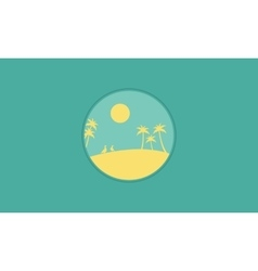 Silhouette of palm scenery flat vector