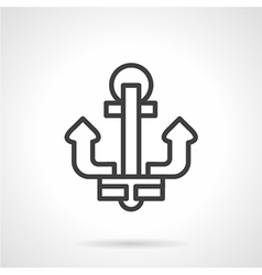 Simple line anchor icon vector image