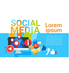 Social media communication concept internet vector