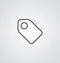 Tag outline symbol dark on white background logo vector