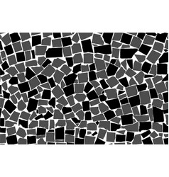 Texture of black and white asymmetric decorative vector