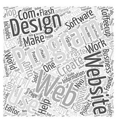 The World Of Computer Software For Web Design Word vector image vector image