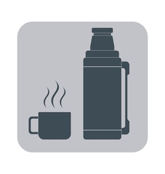 Thermos icon camping and hiking equipment vector