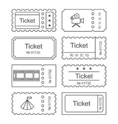 Ticket set icon vector image vector image