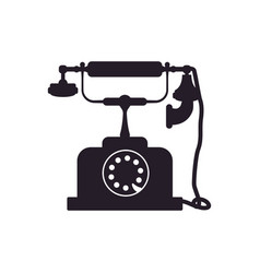 vintage antique telephone vector image