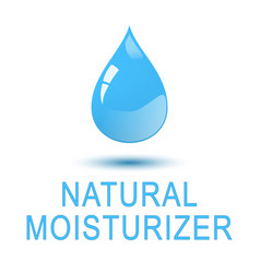 water - natural moisturizer square concept poster vector image vector image