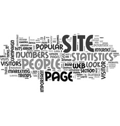 What do your site statistics mean anyway text vector