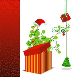xmas box vector image