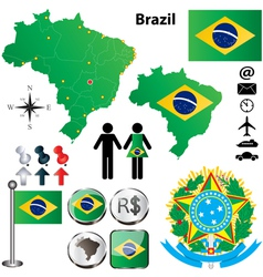 Brazil map vector image