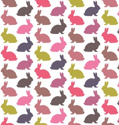 Colorful rabbit pattern vector