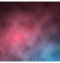 1980 Retro Neon Poster Outer Space Background vector image vector image