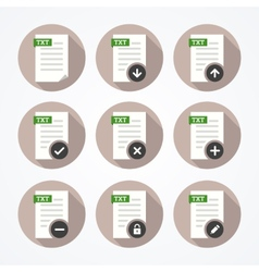 Set of icons for text files vector