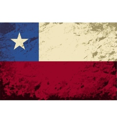 Chilean flag grunge background vector