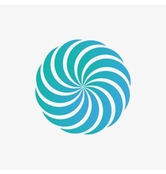 Logo design element abstract whirl swirl vector