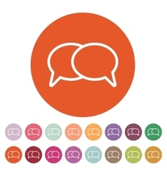 The speech bubbles icon talk symbol flat vector