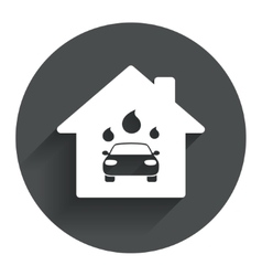 Car wash sign icon automated teller water drop vector