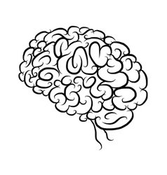 Brain sketch for your design vector