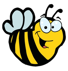 Smiling bee vector