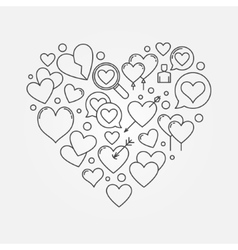 Heart shape or love sign vector