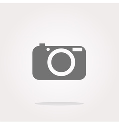 Camera icon on round internet button vector image