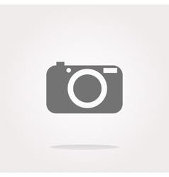 Camera icon on round internet button vector