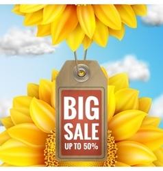 Sunflower with blue sky - autumn sale eps 10 vector