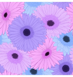 Background with gerbera flower hand-drawn contour vector
