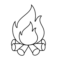 Bonfire flammes icon design vector