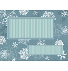 Christmas vintage frame with snowflakes vector image