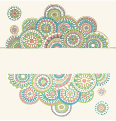 circles doodle color vector image vector image