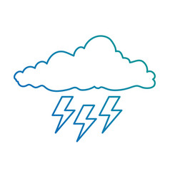 cloud with rays storm vector image