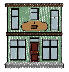 coffee shop building isolated icon vector image