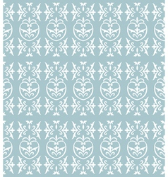 damask light blue vector image vector image