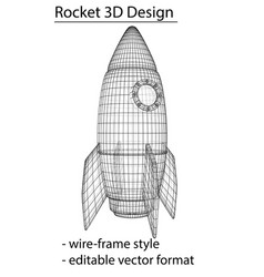 design of a space rocket the concept of a startup vector image