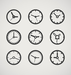 Different clocks collection vector image vector image