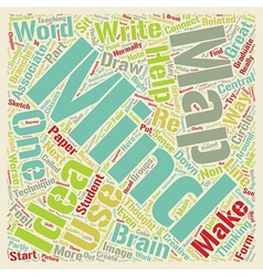 Get it out of your head and into a mind map text vector
