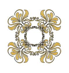 golden ornate decor heraldry floral image vector image vector image