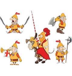 humor cartoon knights vector image