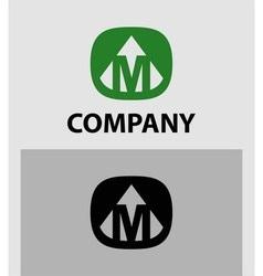Letter M emblem symbol Creative corporate concept vector image vector image