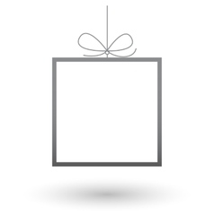 Minimalistic frame gift background vector image
