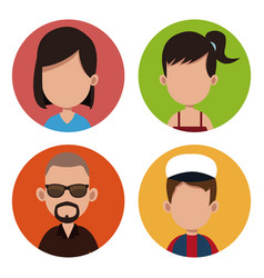 People community casual together vector