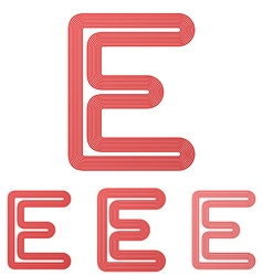 Red letter e logo design set vector image vector image