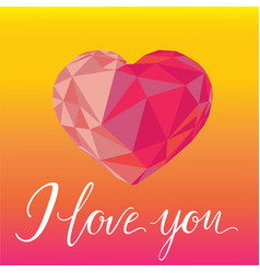 romantic background i love you with colorful vector image vector image