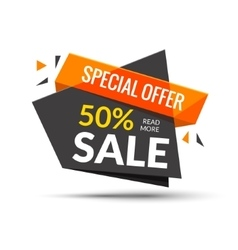 Sale banner Marketing background Big sale tag vector image vector image