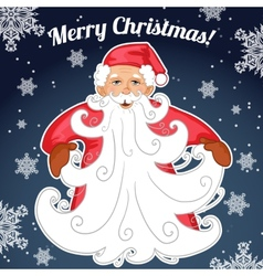 Santa Claus with Christmas tree made from his vector image