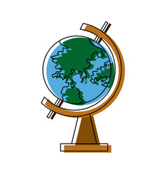 School globe geography navigation location map vector
